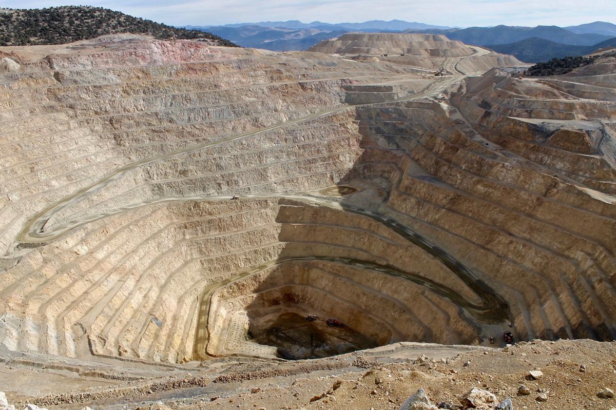 Imagen aérea de minería